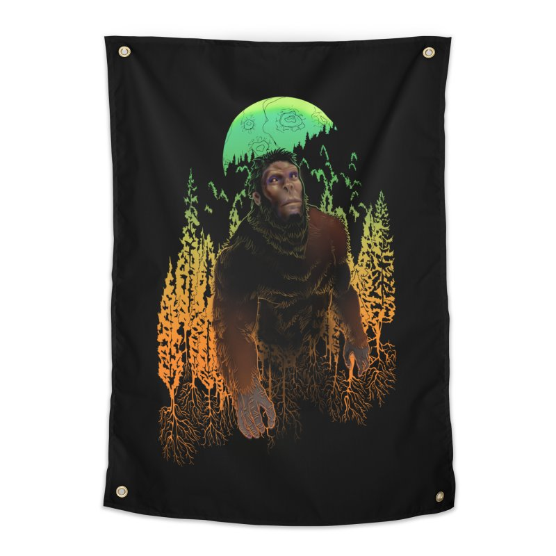 Sasquatch Home Tapestry by Ayota Illustration Shop