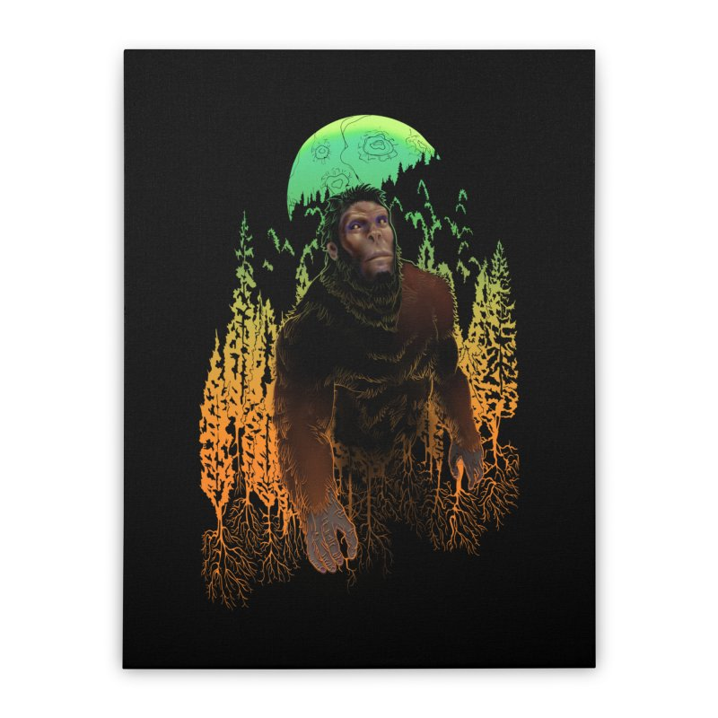 Sasquatch Home Stretched Canvas by Ayota Illustration Shop