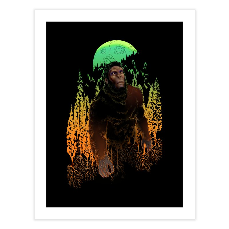 Sasquatch Home Fine Art Print by Ayota Illustration Shop