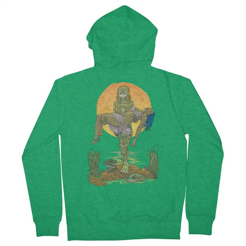 Female Creature from the Black Lagoon Men's Zip-Up Hoody by Ayota Illustration Shop