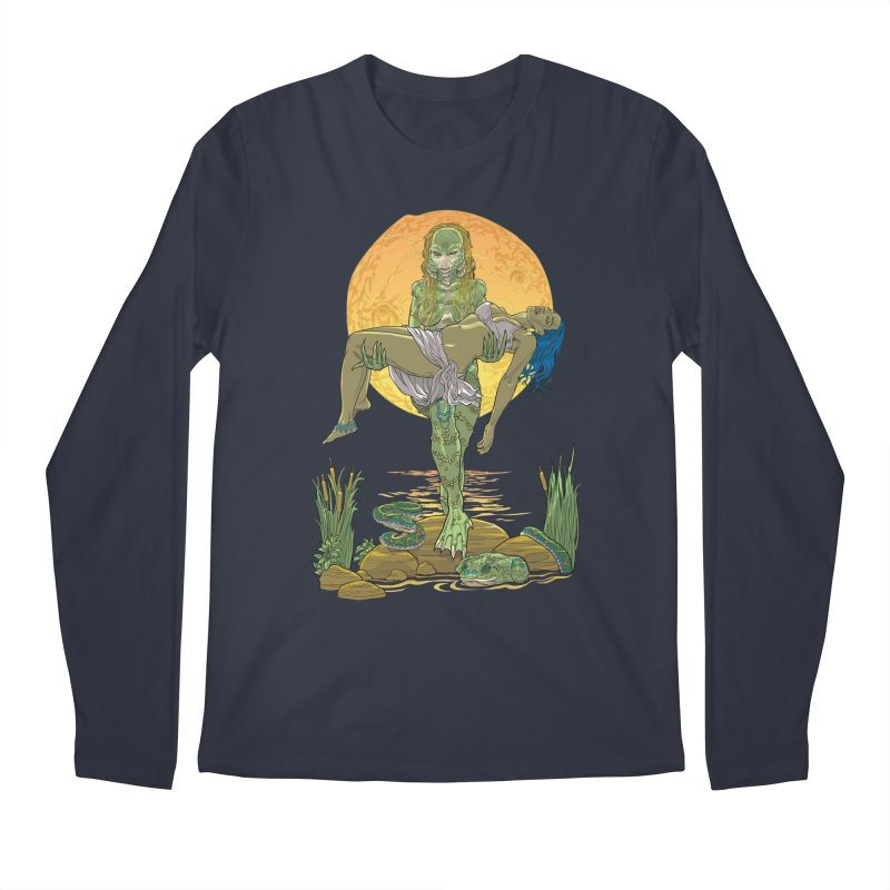 Female Creature from the Black Lagoon Men's Longsleeve T-Shirt by Ayota Illustration Shop