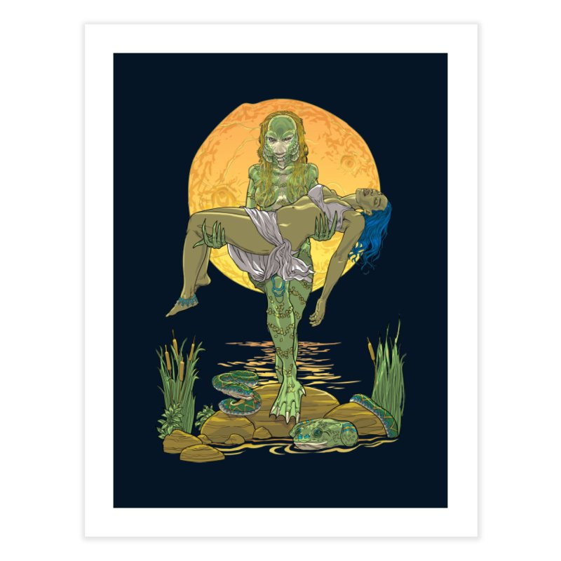 Female Creature from the Black Lagoon Home Fine Art Print by Ayota Illustration Shop