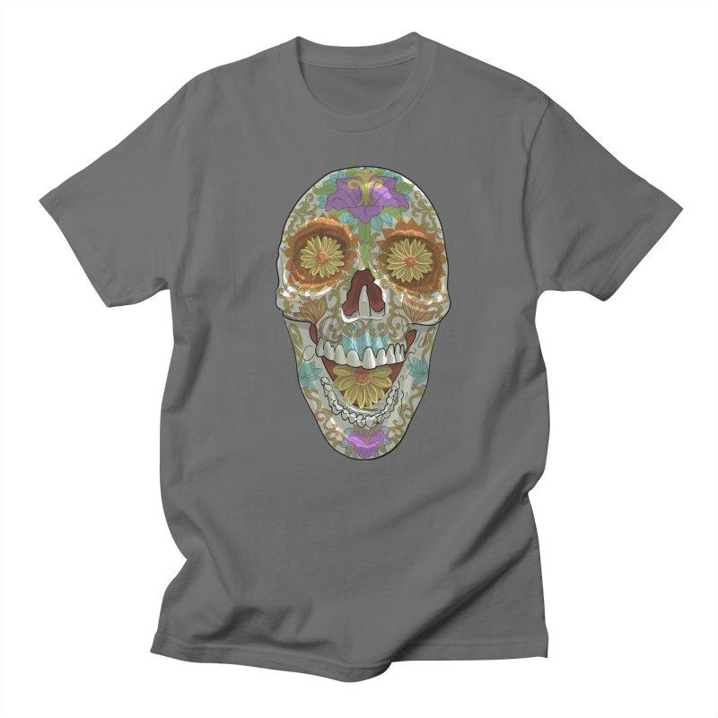 Flower Skull Men's T-Shirt by Ayota Illustration Shop
