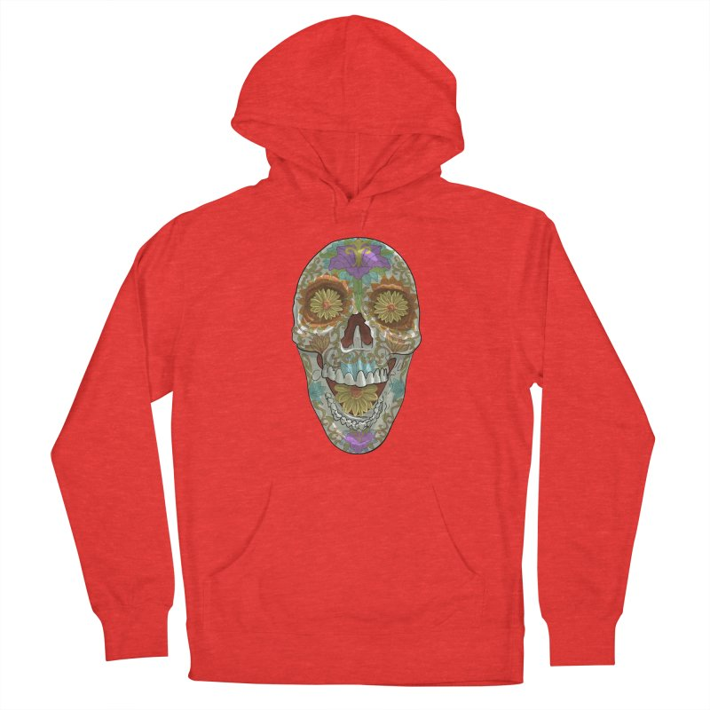 Flower Skull Women's Pullover Hoody by Ayota Illustration Shop