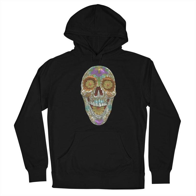 Flower Skull Women's Pullover Hoody by Ayota Illustration Shop