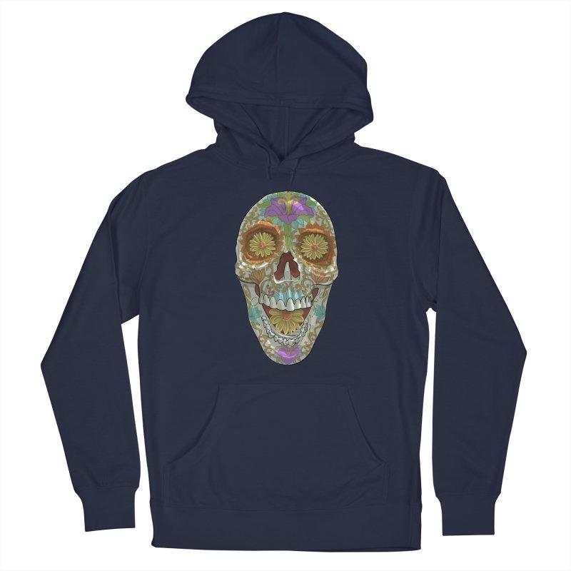 Flower Skull Men's Pullover Hoody by Ayota Illustration Shop