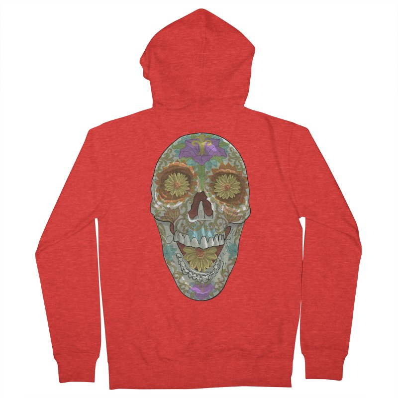 Flower Skull Women's Zip-Up Hoody by Ayota Illustration Shop