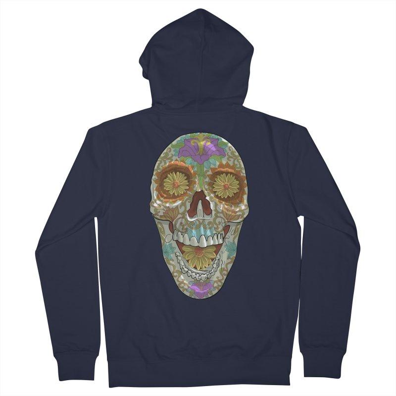 Flower Skull Women's Zip-Up Hoody by Ayota Illustration Shop