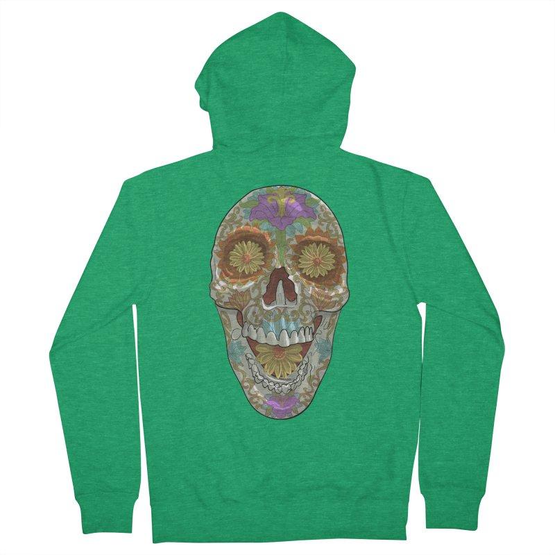 Flower Skull Men's Zip-Up Hoody by Ayota Illustration Shop