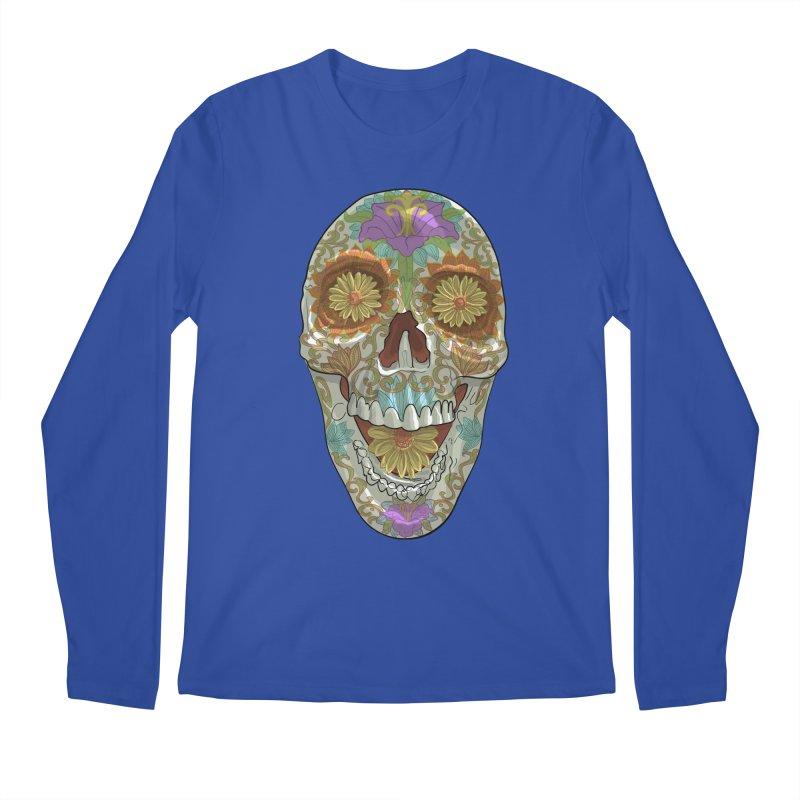 Flower Skull Men's Longsleeve T-Shirt by Ayota Illustration Shop