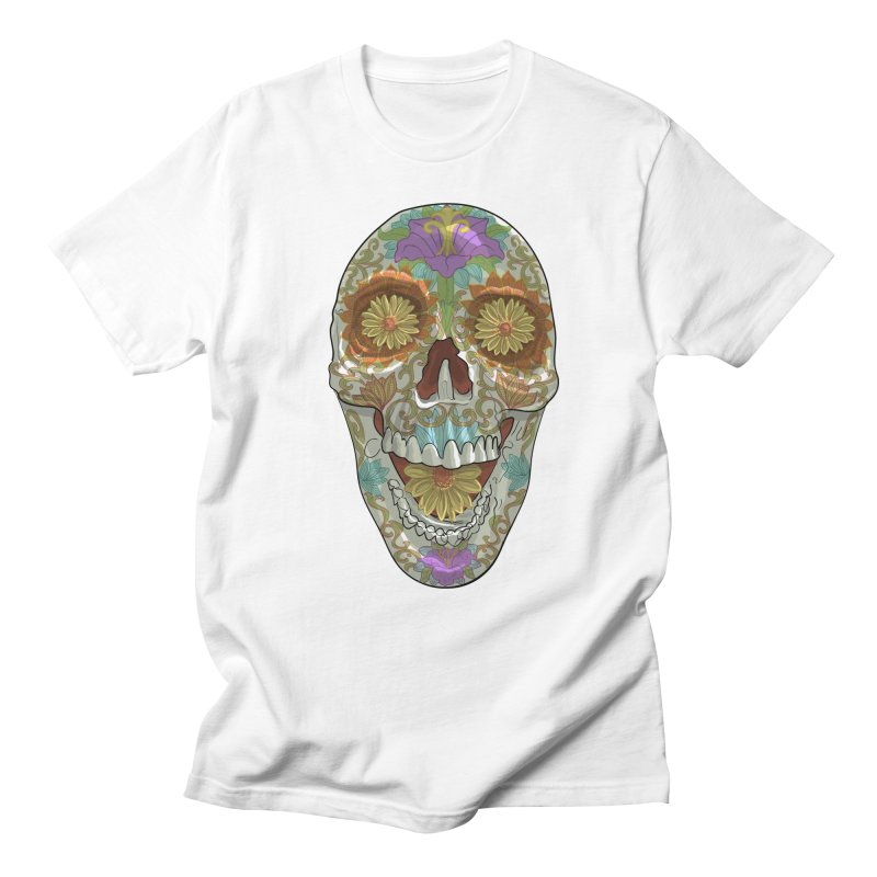 Flower Skull Men's T-Shirt by Ayota Illustration Shop