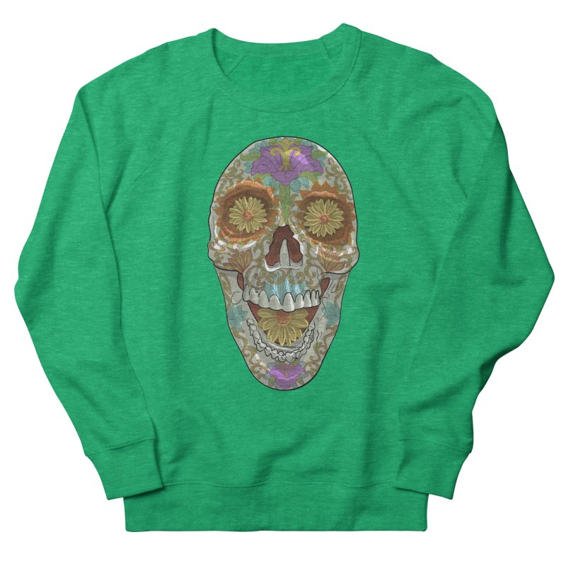 Flower Skull Women's Sweatshirt by Ayota Illustration Shop