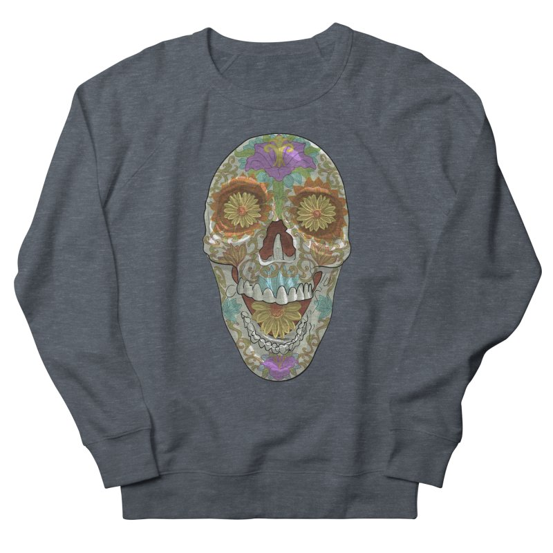 Flower Skull Men's Sweatshirt by Ayota Illustration Shop