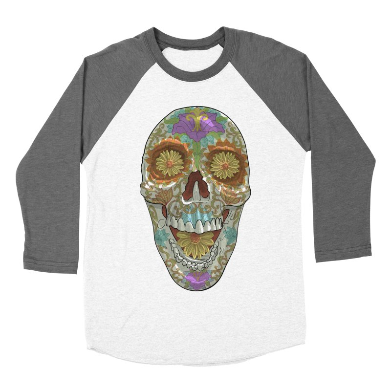 Flower Skull Women's Longsleeve T-Shirt by Ayota Illustration Shop