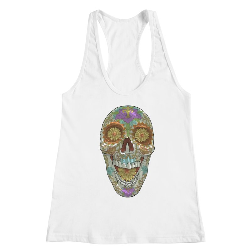 Flower Skull Women's Tank by Ayota Illustration Shop