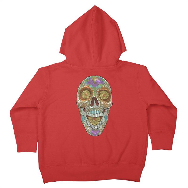 Flower Skull Kids Toddler Zip-Up Hoody by Ayota Illustration Shop