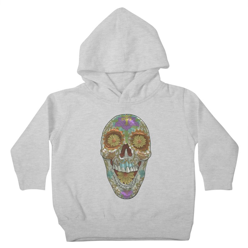 Flower Skull Kids Toddler Pullover Hoody by Ayota Illustration Shop
