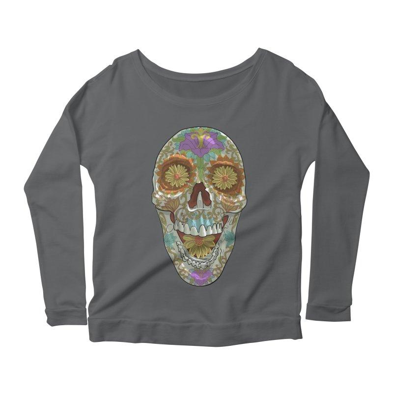 Flower Skull Women's Longsleeve T-Shirt by Ayota Illustration Shop
