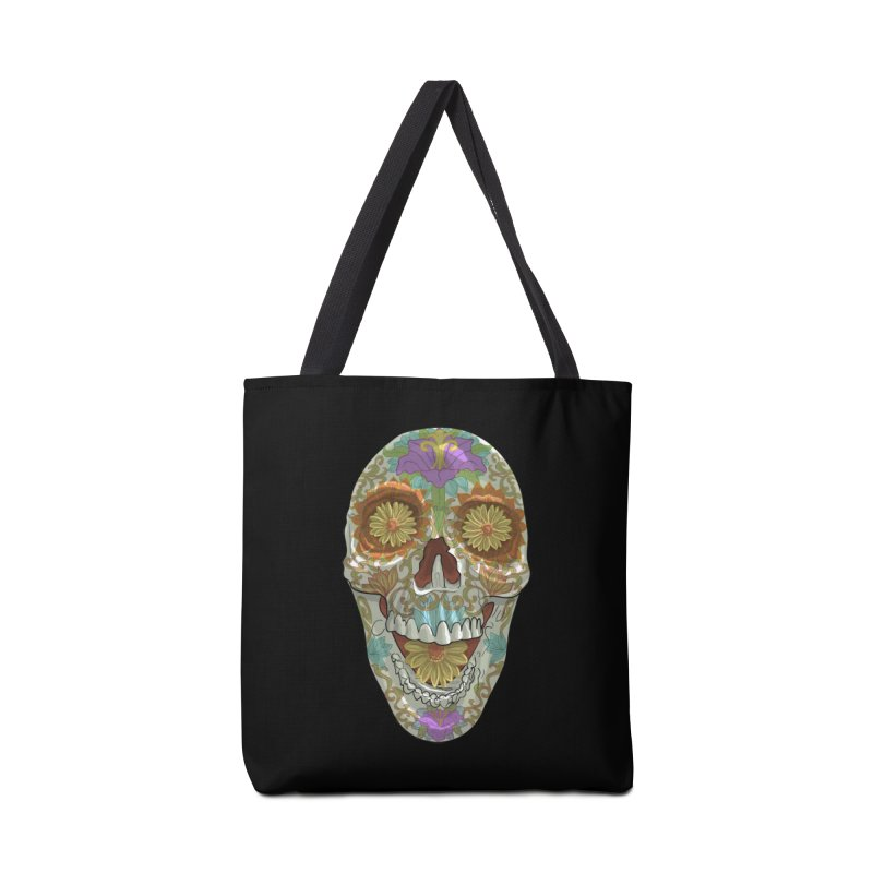 Flower Skull Accessories Bag by Ayota Illustration Shop