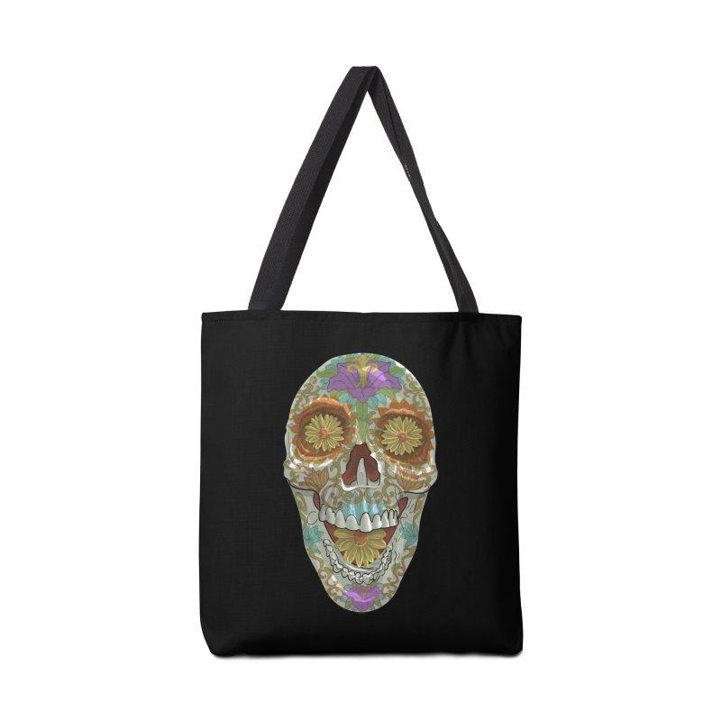 Flower Skull Accessories Bag by Ayota Illustration Shop