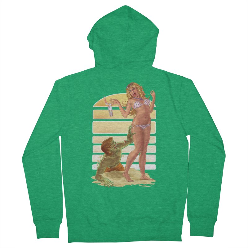 Beach Zombie Men's Zip-Up Hoody by Ayota Illustration Shop