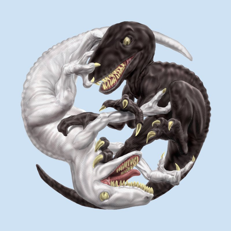 Yin Yang Raptors   by Ayota Illustration Shop