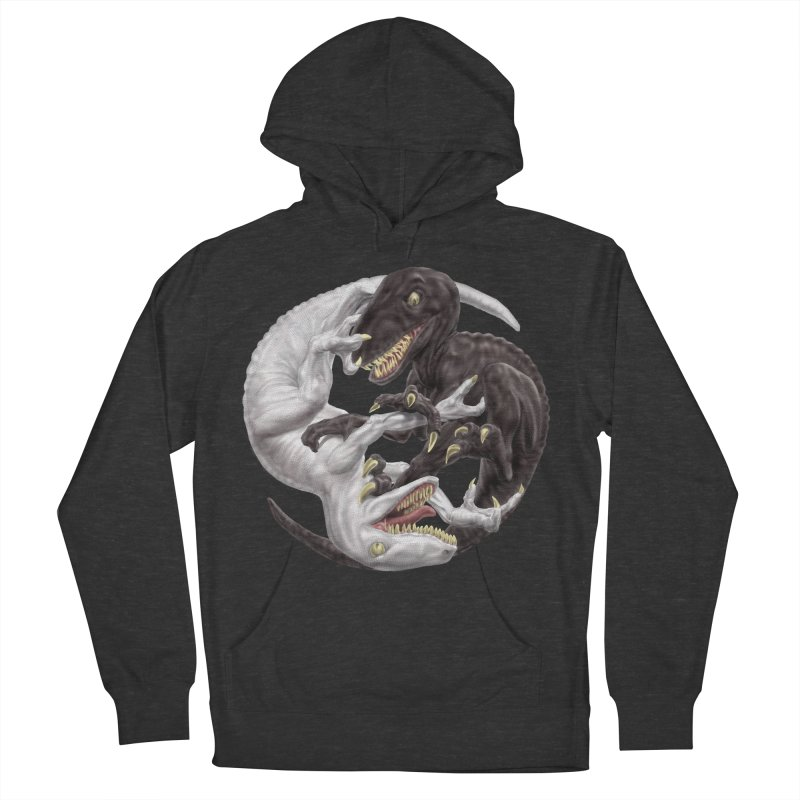 Yin Yang Raptors Women's French Terry Pullover Hoody by Ayota Illustration Shop