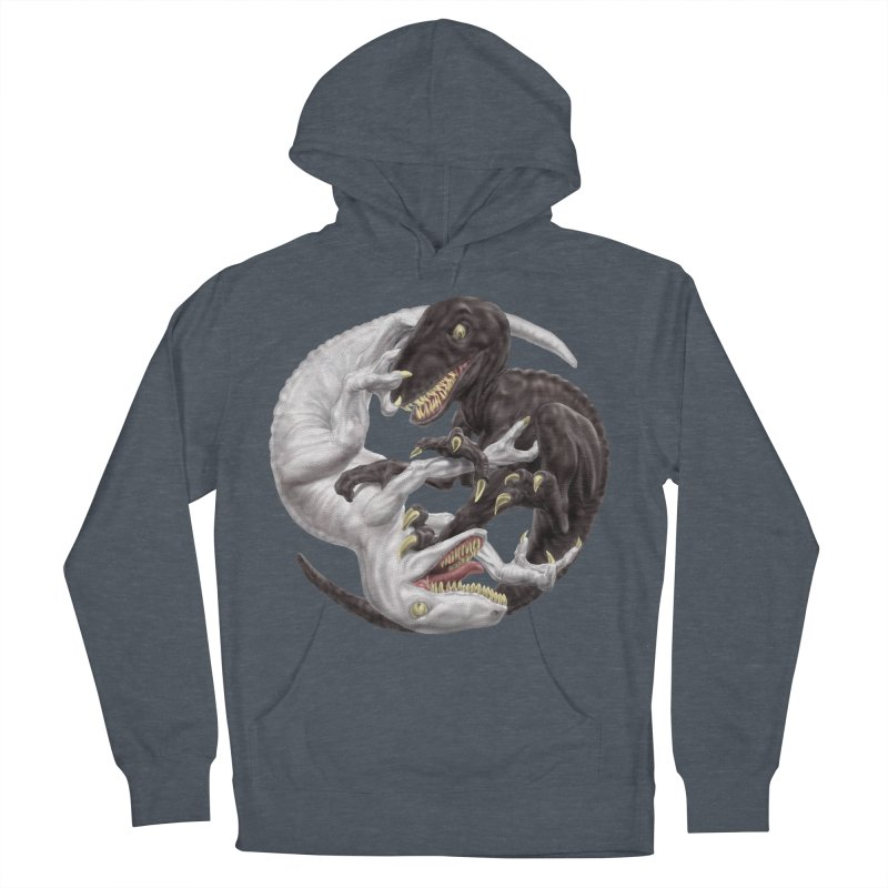 Yin Yang Raptors Men's French Terry Pullover Hoody by Ayota Illustration Shop