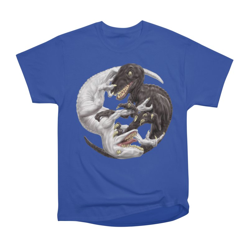 Yin Yang Raptors Women's Heavyweight Unisex T-Shirt by Ayota Illustration Shop