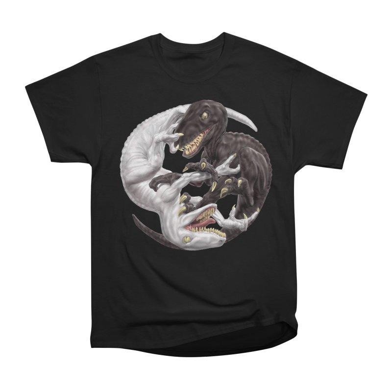 Yin Yang Raptors Men's Heavyweight T-Shirt by Ayota Illustration Shop