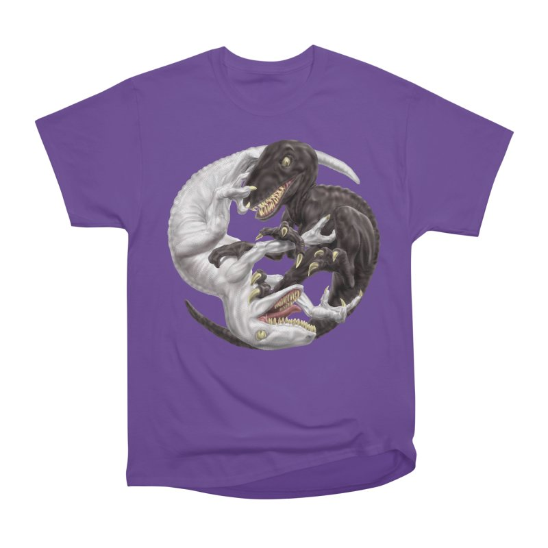 Yin Yang Raptors Men's Heavyweight T-Shirt by Ayota Illustration Shop