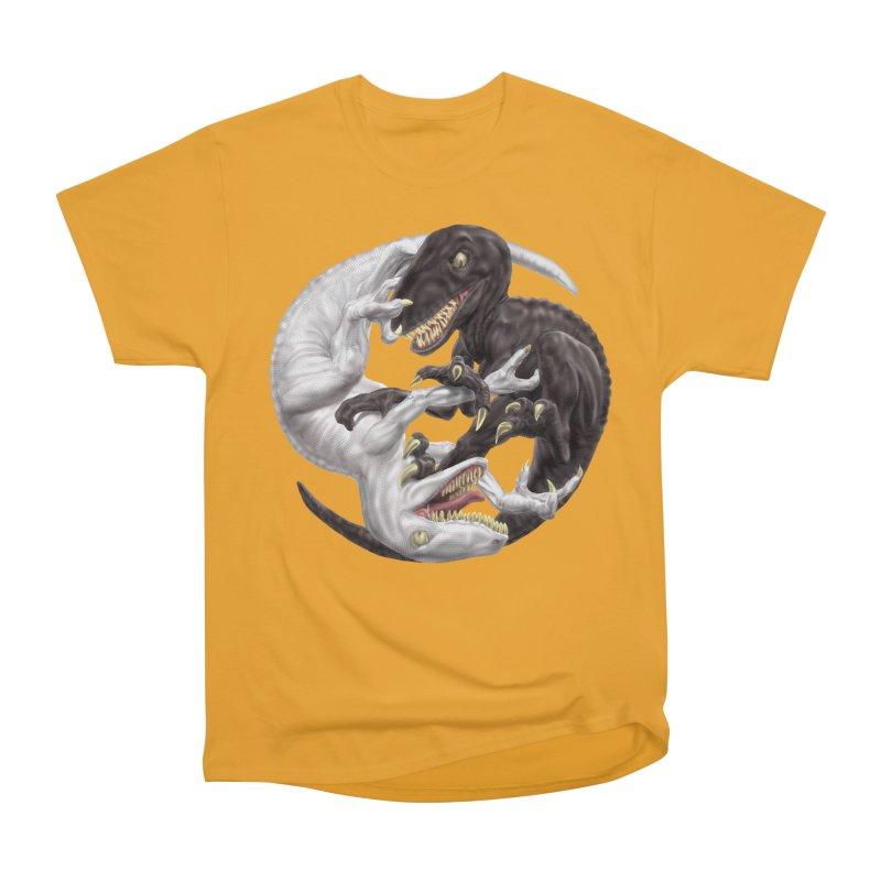Yin Yang Raptors Women's Heavyweight Unisex T-Shirt by Ayota Illustration Shop