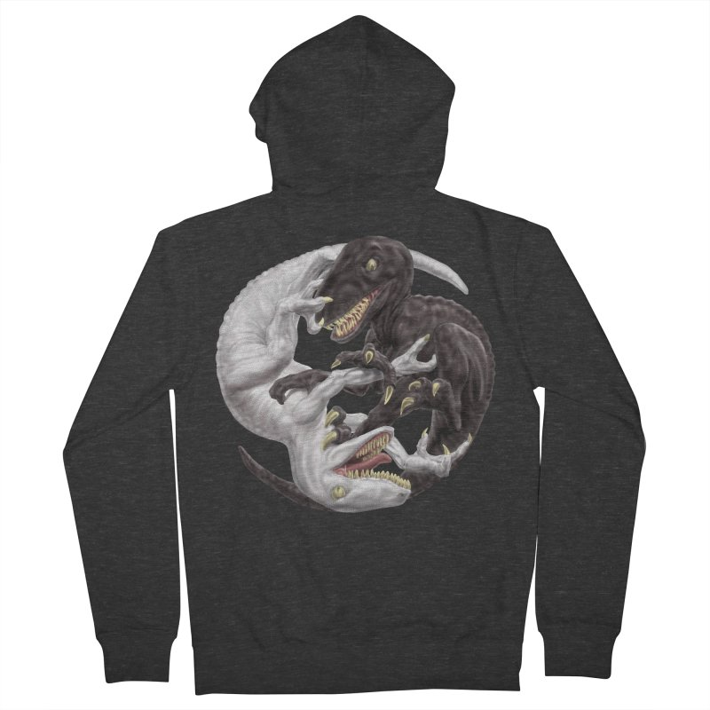 Yin Yang Raptors Women's French Terry Zip-Up Hoody by Ayota Illustration Shop