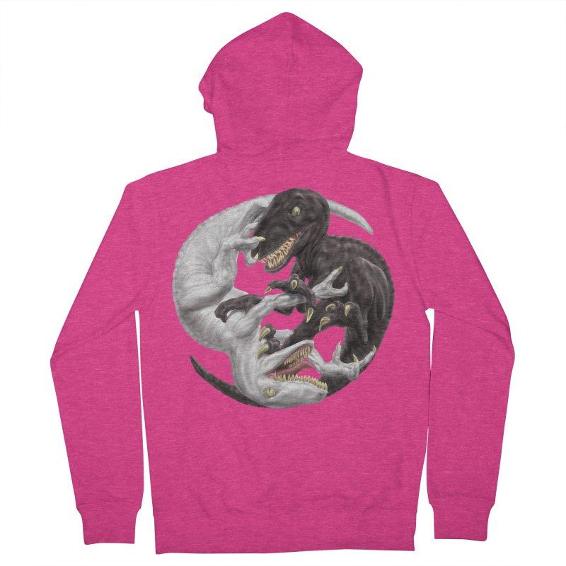 Yin Yang Raptors Women's French Terry Zip-Up Hoody by Ayota Illustration Shop