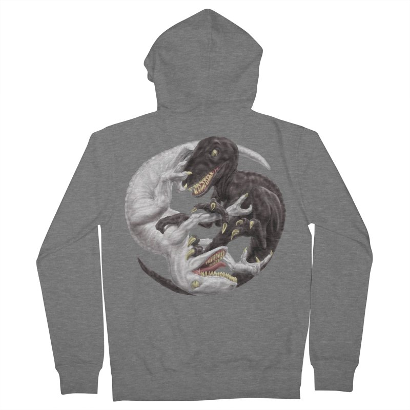 Yin Yang Raptors Men's Zip-Up Hoody by Ayota Illustration Shop