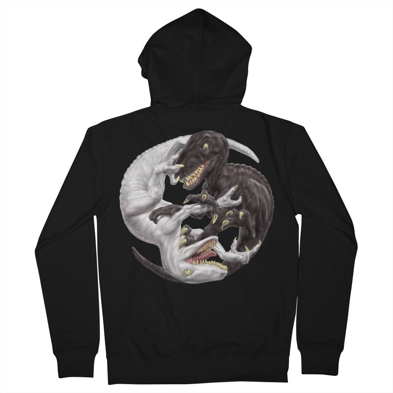 Yin Yang Raptors Men's Zip-Up Hoody by Ayota Illustration Shop
