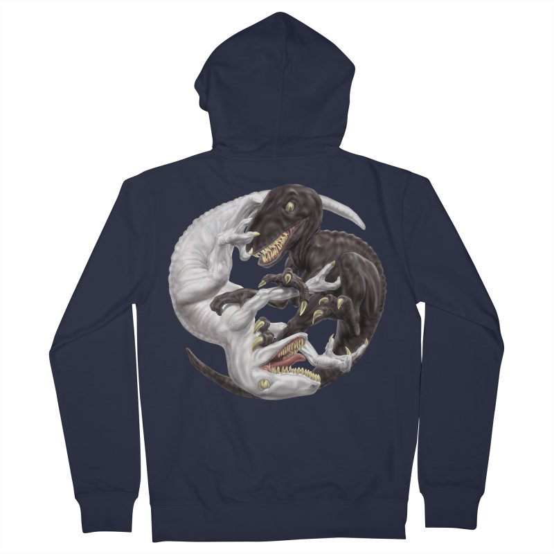 Yin Yang Raptors Men's French Terry Zip-Up Hoody by Ayota Illustration Shop