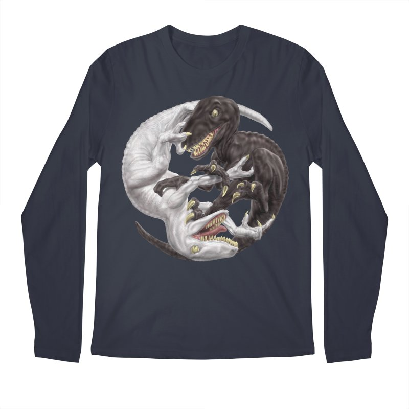 Yin Yang Raptors Men's Regular Longsleeve T-Shirt by Ayota Illustration Shop
