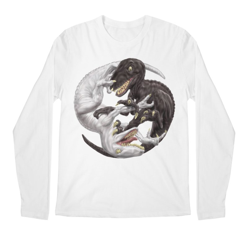 Yin Yang Raptors Men's Regular Longsleeve T-Shirt by Ayota Illustration Shop