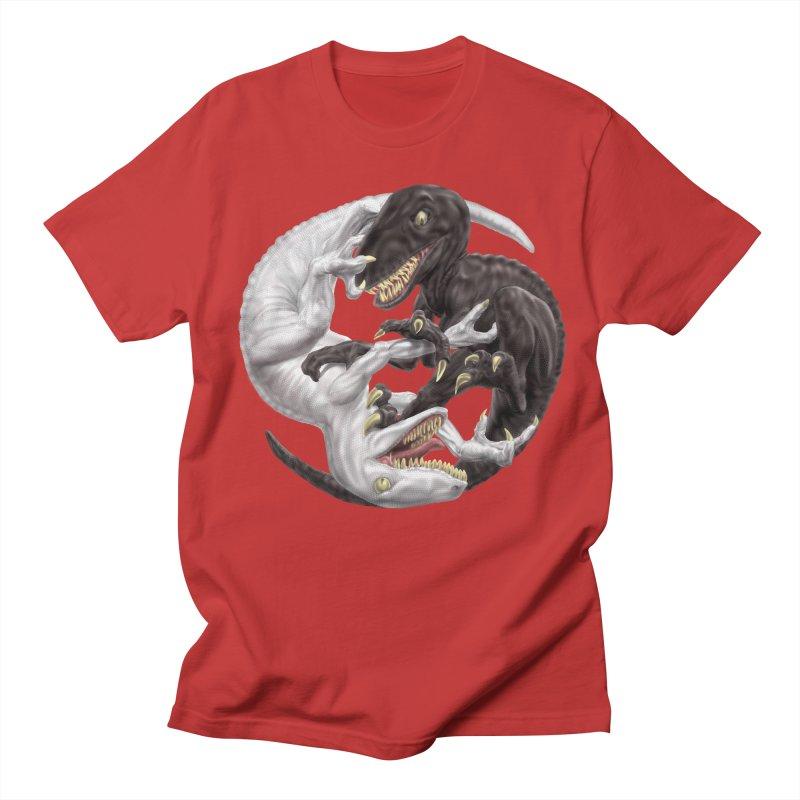 Yin Yang Raptors Men's Regular T-Shirt by Ayota Illustration Shop