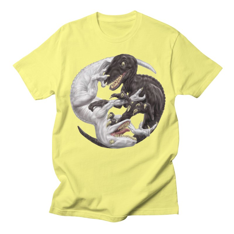 Yin Yang Raptors Men's T-Shirt by Ayota Illustration Shop