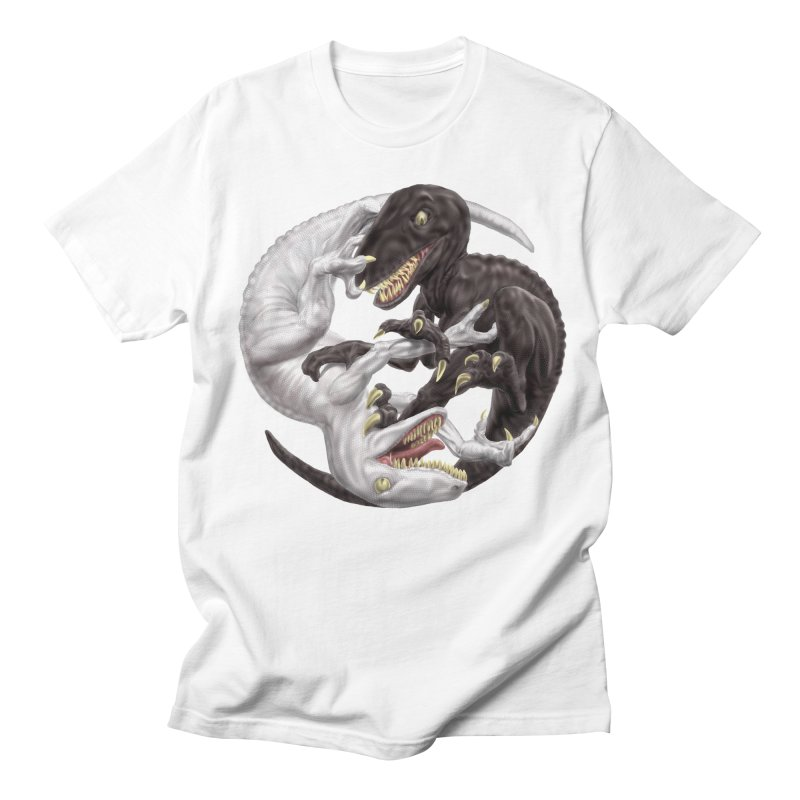 Yin Yang Raptors Men's Regular T-Shirt by Ayota Illustration Shop