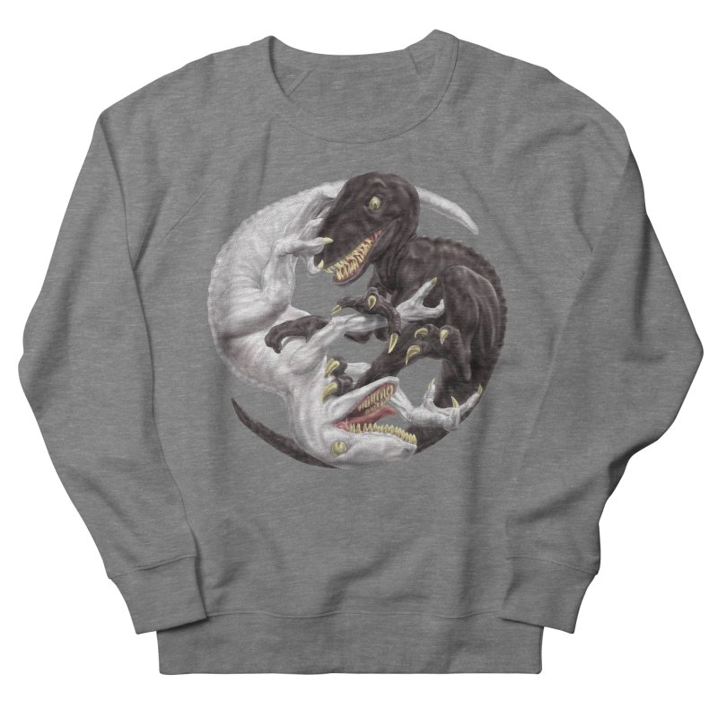 Yin Yang Raptors Women's French Terry Sweatshirt by Ayota Illustration Shop