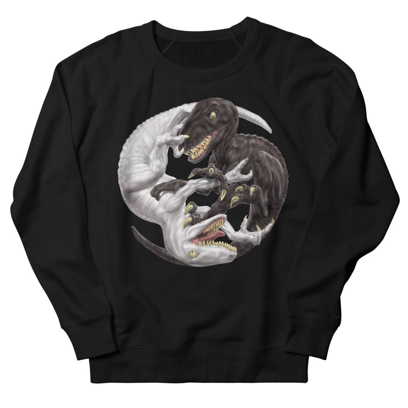 Yin Yang Raptors Women's French Terry Sweatshirt by Ayota Illustration Shop