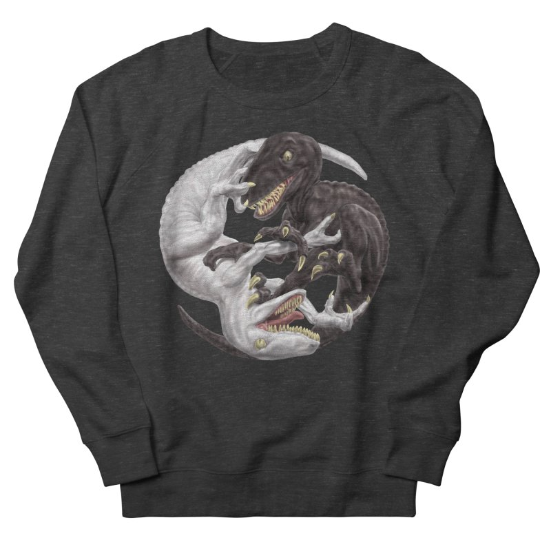 Yin Yang Raptors Men's Sweatshirt by Ayota Illustration Shop