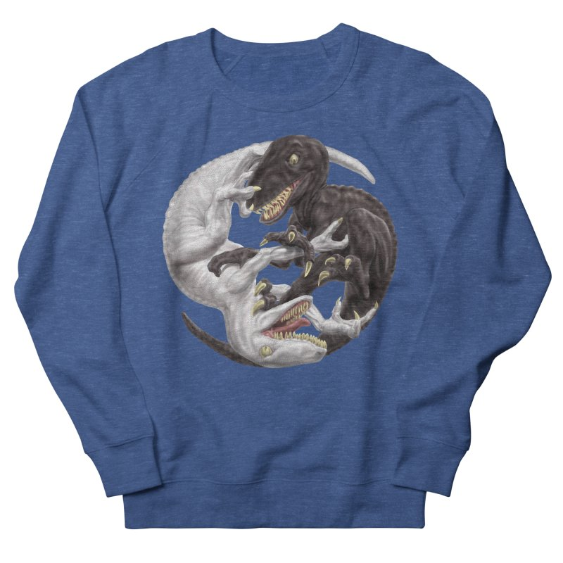 Yin Yang Raptors Men's French Terry Sweatshirt by Ayota Illustration Shop
