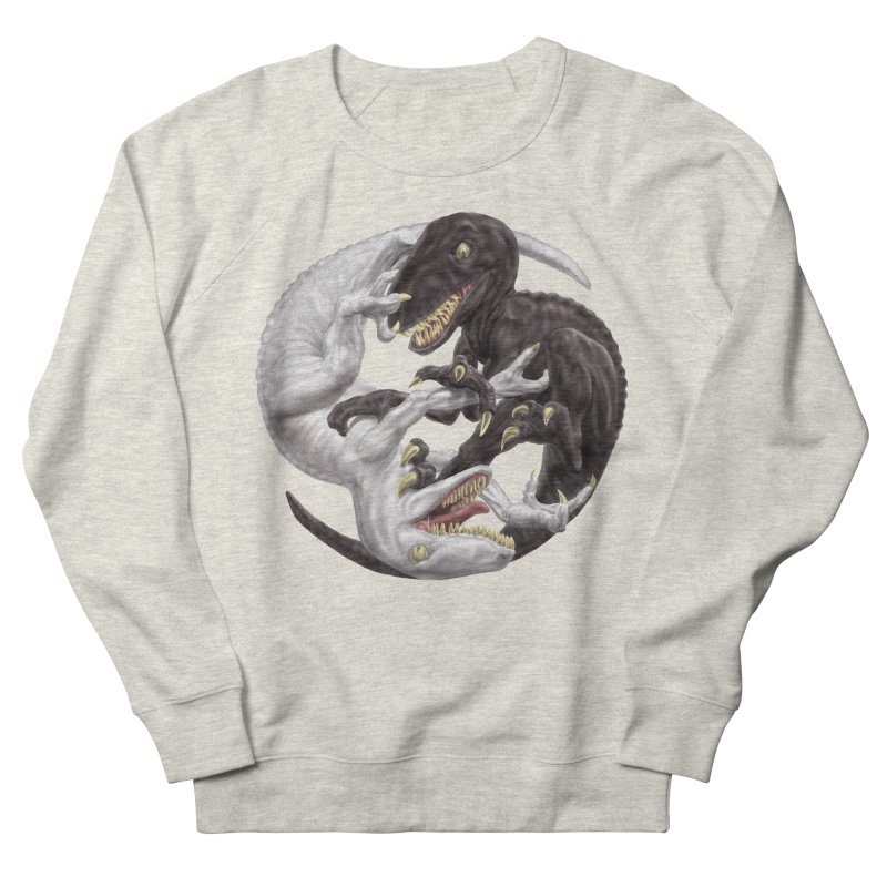 Yin Yang Raptors Men's French Terry Sweatshirt by Ayota Illustration Shop