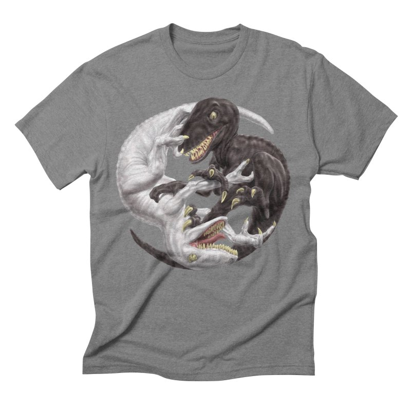 Yin Yang Raptors Men's Triblend T-Shirt by Ayota Illustration Shop