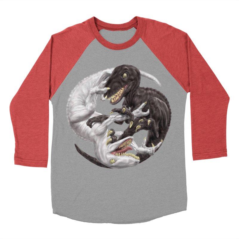 Yin Yang Raptors Women's Baseball Triblend Longsleeve T-Shirt by Ayota Illustration Shop