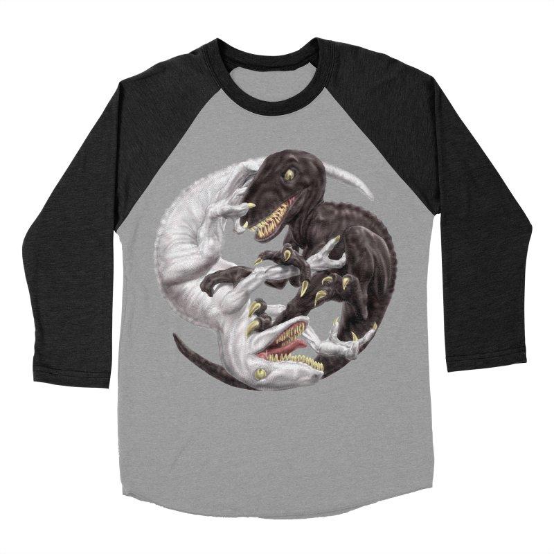 Yin Yang Raptors Women's Baseball Triblend T-Shirt by Ayota Illustration Shop